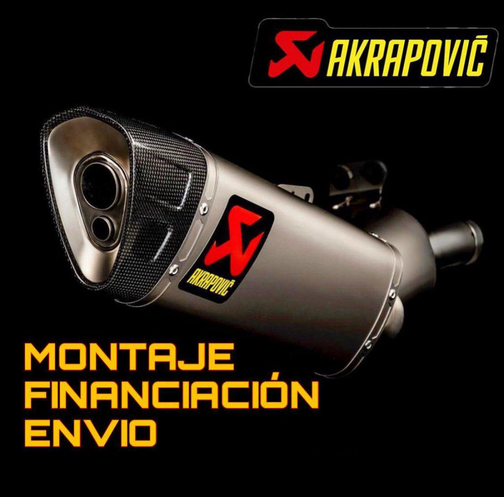 Distribuidor oficial de Akrapovic en Madrid