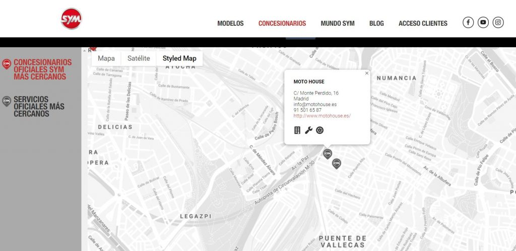 Nuevo Concesionario SYM en Madrid